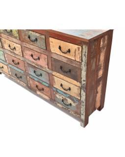 """Šuplíková komoda v """"GOA"""" stylu z teakového dřeva, 166x40x92cm"""