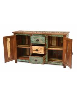 "Komoda v ""GOA"" stylu z teakového dřeva, 150x45x90cm"