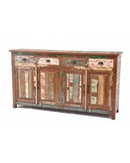 "Komoda v ""GOA"" stylu z teakového dřeva, 180x45x100cm"
