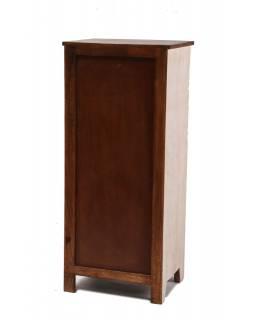 Šuplíková komoda z mangového dřeva, bílá patina, 50x40x122cm