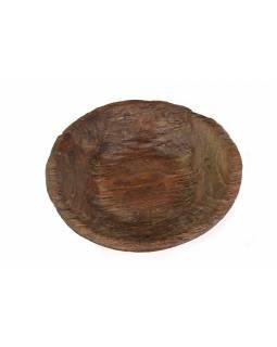Dřevěná mísa z mangového dřeva vydlabaná z jednoho kusu, 49x49x11cm