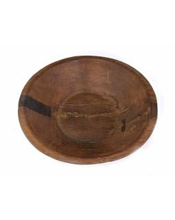 Dřevěná mísa z mangového dřeva vydlabaná z jednoho kusu, 55x55x14cm