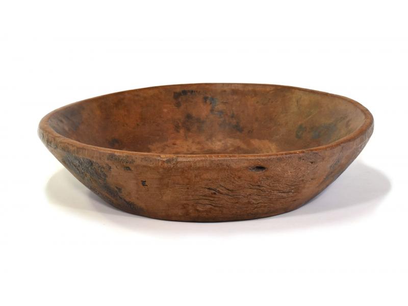 Dřevěná mísa z mangového dřeva vydlabaná z jednoho kusu, 57x57x14cm