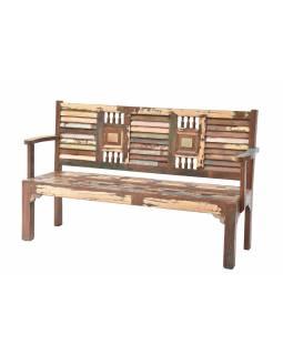 """Lavice z teakového dřeva v """"Goa"""" stylu, 153x51x100cm"""
