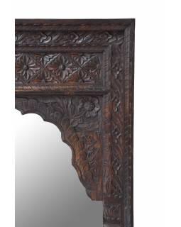 Zrcadlo v rámu z mangového dřeva, antik, 75x5x122cm