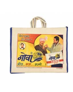 Originální plátěná taška z recyklovaného materiálu,, 45x21x37cm
