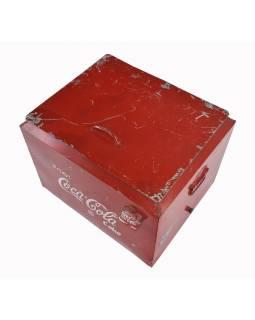 """Plechová chladnička """"Coca Cola"""", 45x37x39cm"""