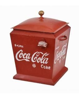 """Plechová chladnička """"Coca Cola"""", 33x33x44cm"""