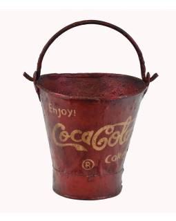 "Plechová nádoba na led ""Coca Cola"", 27x27x30cm"