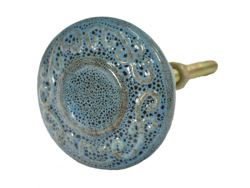 Malované porcelánové madlo na šuplík, délka závitu 4,5cm