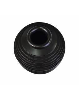 Dvoudílná váza z palmového dřeva, černá, 34x34x36cm