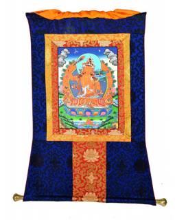 Tanka, Mandžušrý, modrý brokát, 70x86cm