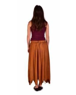 Dlouhá sukně s výšivkou, pružný pas, oranžová