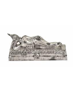 Narozeninový Buddha, úterý, stříbrná patina, 20cm