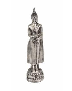 Narozeninový Buddha, středa, stříbrná patina, 20cm