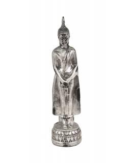 Narozeninový Buddha, neděle, stříbrná patina, 20cm