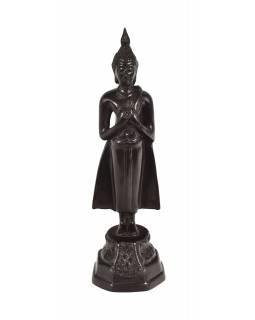 Narozeninový Buddha, pátek, hnědý, pryskyřice, 25cm