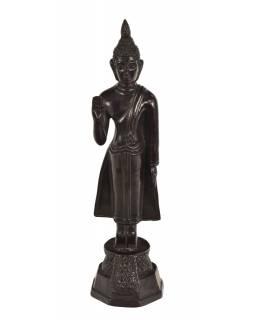 Narozeninový Buddha, pondělí, pryskyřice, tmavě hnědý, 30cm
