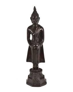 Narozeninový Buddha, středa, pryskyřice, tmavě hnědý, 30cm