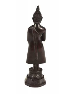 Narozeninový Buddha, pátek, pryskyřice, tmavě hnědý, 30cm