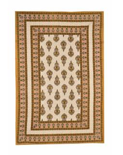 Přehoz na postel s tradičním Indickým vzorem, 210x146cm