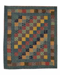 Patchworkový přehoz na postel, prošívaný, 268x222cm