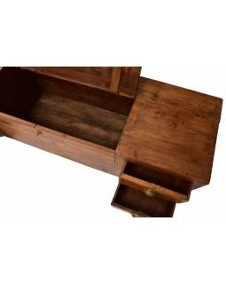 Nízká komoda z teakového dřeva, 152x43x46cm