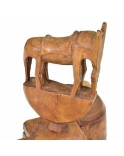 Krabička na Tiku, stará původní krabička na práškové barvy, 32x9x22cm