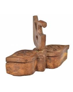 Krabička na Tiku, stará původní krabička na práškové barvy, 34x10x25cm