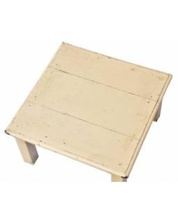 Čajový stolek z teakového dřeva, 40x40x21cm