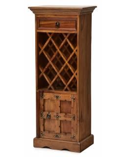Bar z palisandrového dřeva, mosazné kování, 45x30x110cm