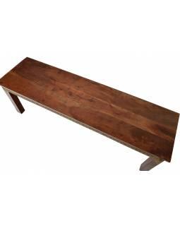 Lavice z palisandrového dřeva zdobená mosazným kováním, 145x40x45cm