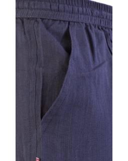 Černé unisex kalhoty s kapsami, elastický pas