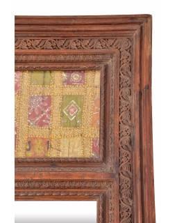 Zrcadlo v rámu ze starého portálu, ručně vyřezávaného, 141x10x273cm