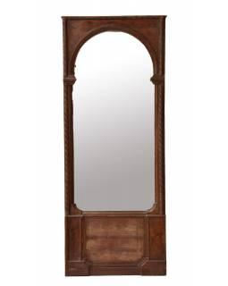 Zrcadlo v rámu z teakového dřeva, 85x15x215cm