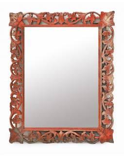 Zrcadlo v rámu z mangového dřeva, ručně vyřezávané, 61x3x78cm
