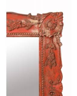 Zrcadlo v rámu z mangového dřeva, ručně vyřezávané, 71x3x86cm