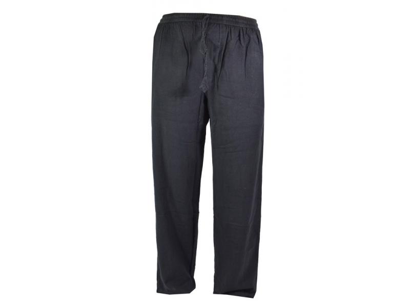 Unisex dlouhé černé kalhoty s kapsami ad46b6a931