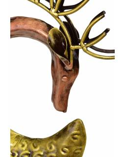 Socha jelena, kov, bronzová patina, 20x15x88cm