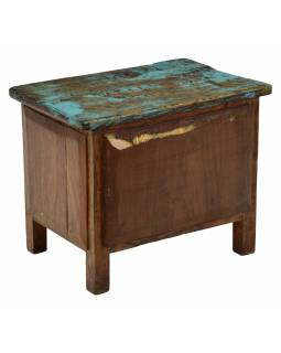 Noční stolek se šuplíky z teakového dřeva, 45x29x36cm
