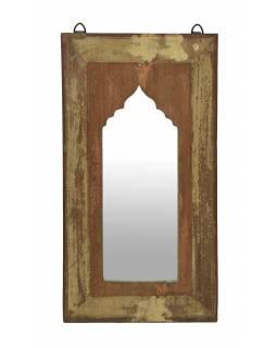 Zrcadlo v rámu z teakového dřeva, 27x3x50cm
