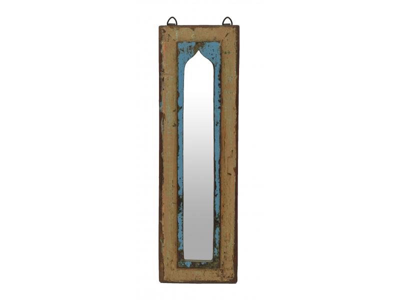 Zrcadlo v rámu z teakového dřeva, 17x3x54cm
