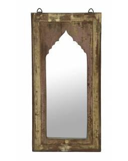 Zrcadlo v rámu z teakového dřeva, 28x3x56cm