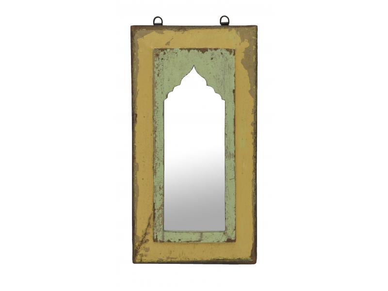 Zrcadlo v rámu z teakového dřeva, 27x3x51cm
