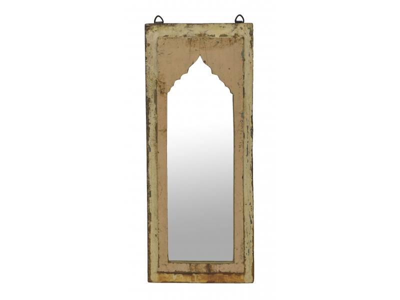 Zrcadlo v rámu z teakového dřeva, 25x3x60cm