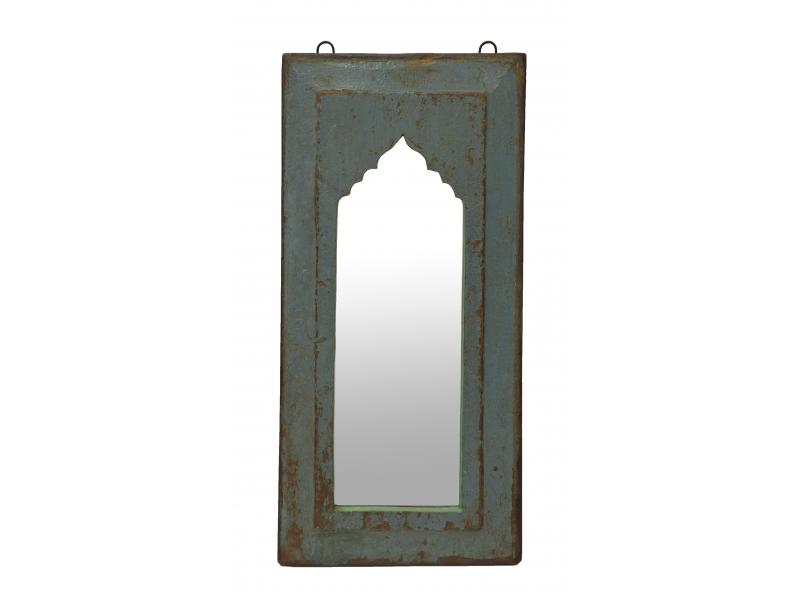 Zrcadlo v rámu z teakového dřeva, 27x3x57cm