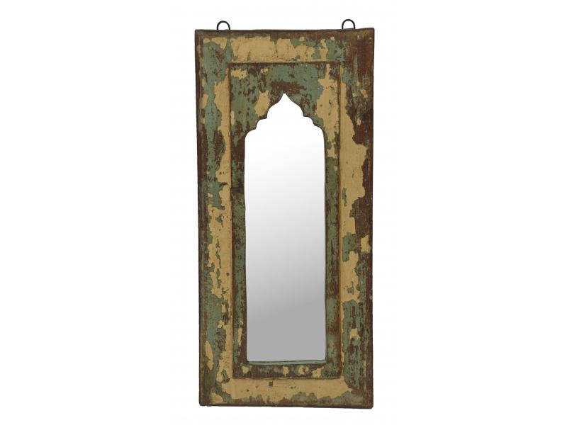 Zrcadlo v rámu z teakového dřeva, 25x3x45cm