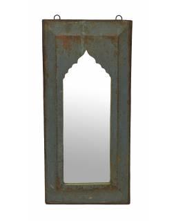 Zrcadlo v rámu z teakového dřeva, 28x3x57cm