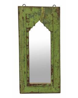Zrcadlo v rámu z teakového dřeva, 27x3x56cm
