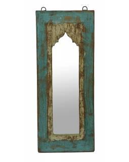 Zrcadlo v rámu z teakového dřeva, 24x3x57cm